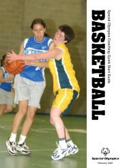 Basketball Quick Start Guide - Special Olympics