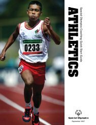Athletics Quick Start Guide - Special Olympics