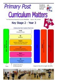 Primary Post Curriculum Matters Year 3 Autumn 2 2007