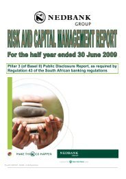 of Basel II - Nedbank Group Limited