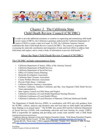 3. The California State Child Death Review Council - ICAN Associates
