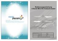 Bedienungsanleitung 4 Kanal Mini RC Hubschrauber - Trendy  Planets