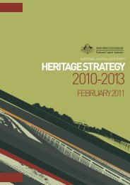 Heritage Strategy 2010-2013 - the National Capital Authority
