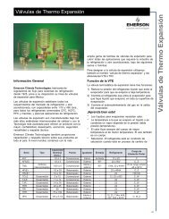 Emerson Válvulas de Thermo Expansión - Servipartes