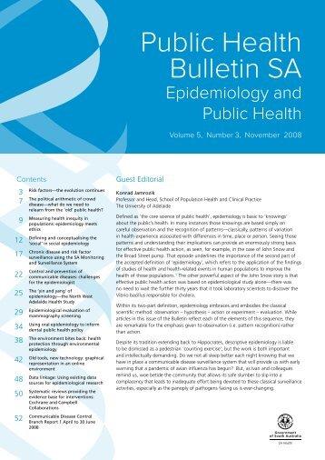 Public Health Bulletin SA Volume 5, Number 3, November 2008