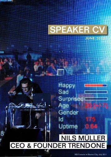 CEO & FOUNDER TRENDONE SPEAKER CV