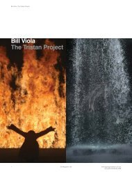 Bill Viola The Tristan Project - DG Design Network