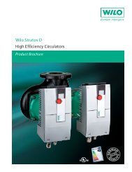Wilo Stratos D High Efficiency Circulators - Wilo Canada Inc.