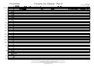 Concerto for Clarinet Part 2 Published Score - Lush Life Music