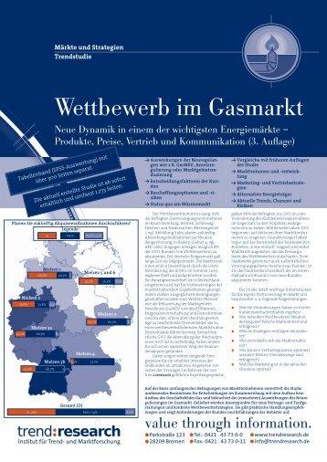 Wettbewerb im Gasmarkt - trend:research