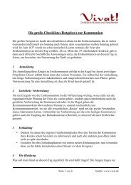 Die große Checkliste zur Erstkommunion - Vivat!