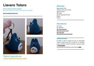 Llavero Totoro - Hasta El Monyo de patrones en inglés