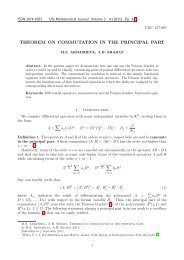 THEOREM ON COMMUTATION IN THE PRINCIPAL PART