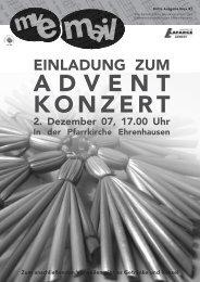 einladung zum - Musikverein des Gemeindeverbandes Ehrenhausen