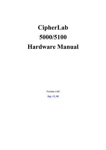 CipherLab 5100 Hardware Manual - VIC Computer (HK)
