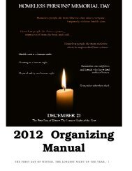 2012 Organizing Manual - National Coalition for the Homeless