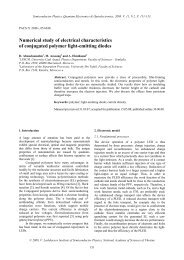 Numerical study of electrical characteristics of conjugated polymer ...