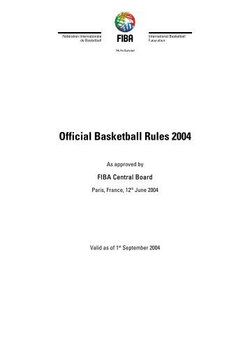 Official Basketball Rules 2004