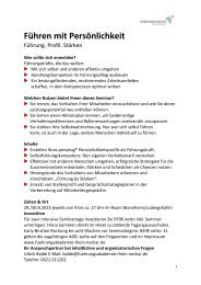 Download Seminarbeschreibung (PDF) - Führungsakademie