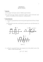 To investigate the frequency spectra of different signal waveforms ...