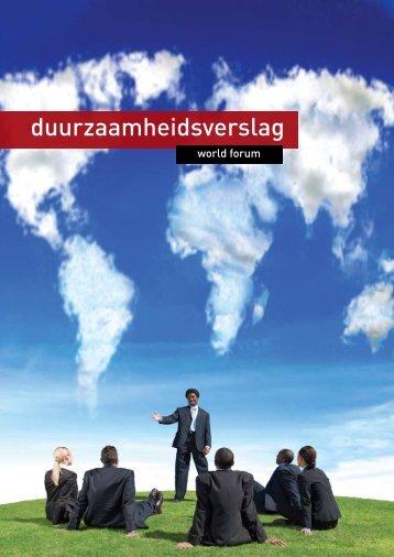 duurzaamheidsverslag - World Forum