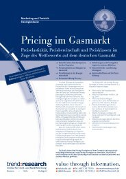 Pricing im Gasmarkt - trend:research