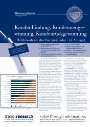 Kundenbindung, Kundenneuge- winnung ... - trend:research