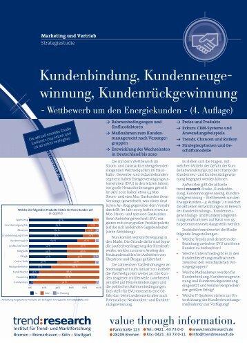 Kundenbindung, Kundenneuge- winnung ... - trend:research