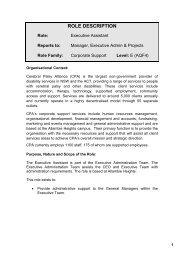 ROLE DESCRIPTION - Cerebral Palsy Alliance