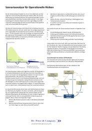 Szenarioanalyse für Operationelle Risiken - Dr. Peter & Company AG