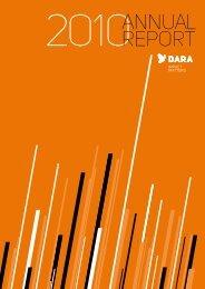 Download the 2010 Annual Report - DARA