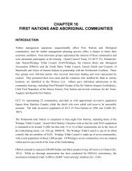 Chapter 10: First Nations and Aboriginal Communities - Ministry of ...