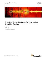 Practical Considerations for Low Noise Amplifier Design - Freescale ...