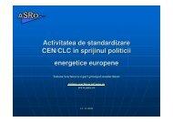 Activitatea de standardizare CEN/CLC în sprijinul politicii ... - URTP