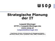 Strategische Planung der IT - VoWi
