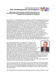 Über 20 Bildungscluster auf Erfolgskurs - infobrokers.at