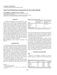 Type Trait (Co)Variance Components for Five Dairy Breeds - ORBi