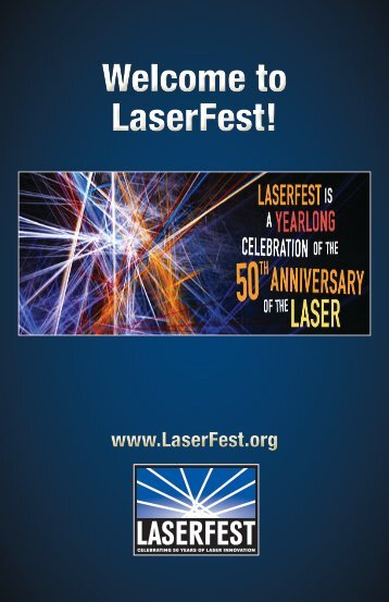 Welcome to LaserFest! Welcome to LaserFest!