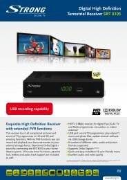 Exquisite High Definition Receiver with extended PVR ... - Strong.tv