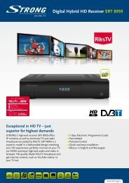 Digital Hybrid HD Receiver SRT  8950 - STRONG Digital TV