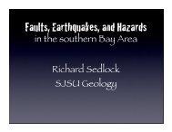 Cupertino earthquakes presentation, 4/29/08