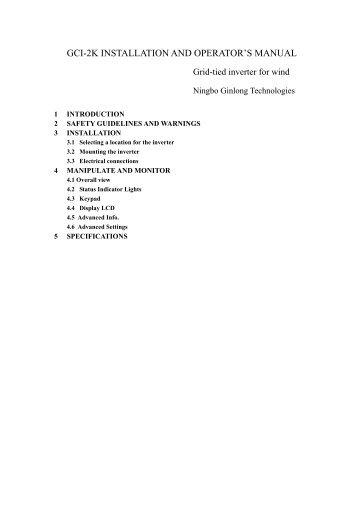 GCI-2K Manual - Ginlong Technologies
