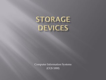 Storage Devices - Tiona Consulting