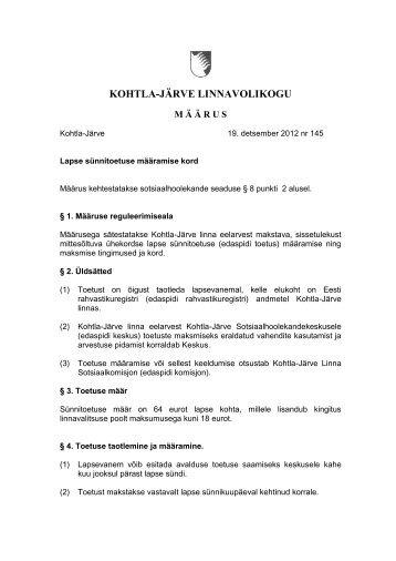 KOHTLA-JÄRVE LINNAVOLIKOGU