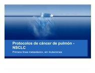 Foco cáncer de pulmón y oncología gastrointestinal