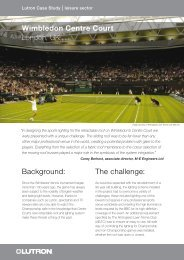 Wimbledon Centre Court - Lutron Lighting Installation Specialists
