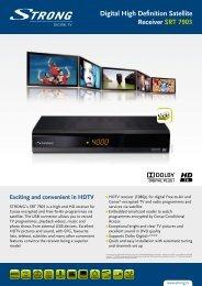 Digital High Definition Satellite Receiver SRT 7903 - Strong.tv