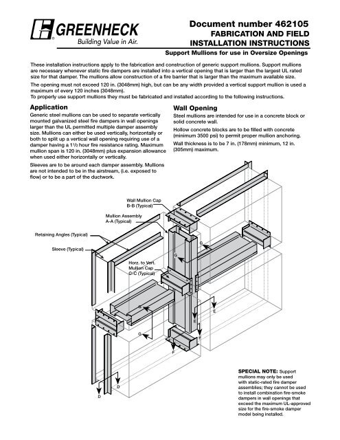Support Mullions for use in Oversize Openings     - Greenheck
