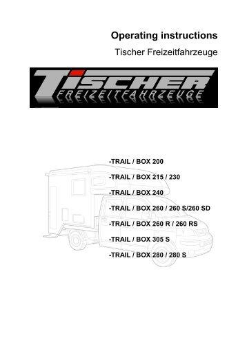 Operating instructions - Tischer Freizeitfahrzeuge