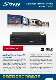 Digital High Definition Terrestrial Receiver PRIMA V - Strong.tv